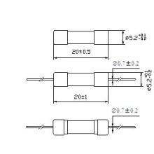 Glass Tube Fuse 5*20 Rated Breaking Capacity 150A Rt1-20 (E)