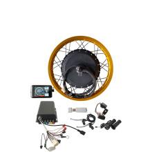 QS8000w 72v 96v QS273 ebike electric bike conversion kit with colorful wheel