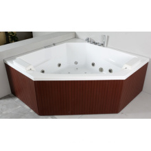 PS Skirt Acrylic Indoor Whirlpool Corner Bathtub (JL821)