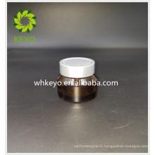 30g Hot vente maquillage emballage ambre coloré pot de verre de cylindre cosmétique avec bouchon à vis