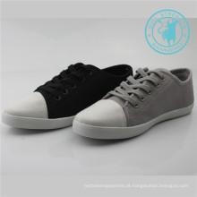 Calçados masculinos sapatos de lona calçados com sola de borracha (snc-011304)