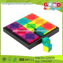 2015 Новые деревянные игрушки для деревянных головоломок, блоки для головоломки из кубика, детские деревянные головоломки