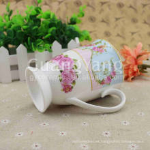 Taza esmaltada porcelana modificada para requisitos particulares del cambio del color del cambio del color de la taza del diseño