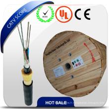 Câble optique aérien à tube lâche ADSS