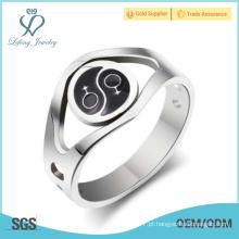 Prata jóia lésbica dos pares, anel lésbica da promessa do orgulho
