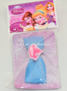 Princess promotional wholesale hair accessories ;Wholesale New Fashion Style rubber charm Hair Barrettes For Gril