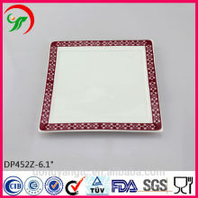 Placa de porcelana al por mayor, placa de cena blanca de cerámica, placas de cerámica hechas a mano
