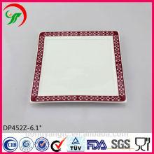 Оптовая фарфоровая тарелка , керамическая белая тарелка ,ручной работы керамические пластины