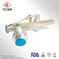 Sanitary Tee Connect Two Butterfly Valves