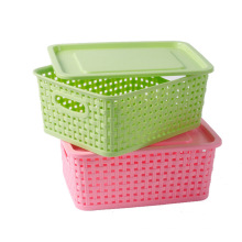 Weave Design Hollow Plastic Storage Box for Storage (SLSN037)