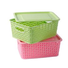 Weave Design Hollow Kunststoff Aufbewahrungsbox für Lagerung (SLSN037)