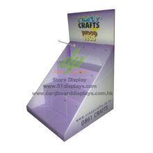 Foldable Corrugated Pop Cardboard Counter Displays For Store