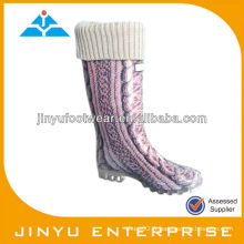 Vogue Lady PVC Rain Boot With Collar