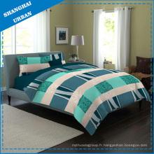 Linge de lit en coton en patchwork en couleur (ensemble)