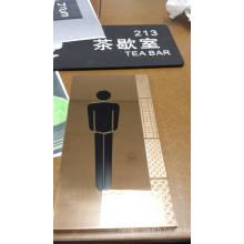 Signe de répertoire de salle de bains acrylique de supermarché Signe de toilette acrylique personnalisé