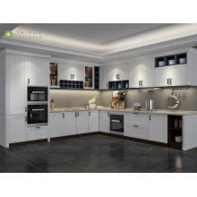 Простой европейский стиль меламин кухонный шкаф