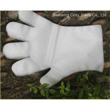 Heißer Verkaufs-wegwerfbarer weißer transparenter LDPE Handschuh