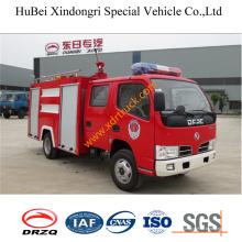 4ton Dongfeng Duolika double rangées camion de pompiers de l'eau Euro3