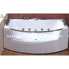 Baignoire de massage hydromassante blanche acrylique de tourbillon (OL-664)