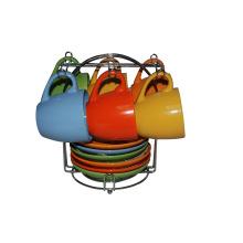 Coupe et soucoupe avec support métallique (91006-006)
