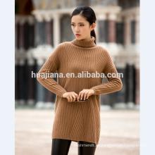 suéter de cachemira de mujer larga media