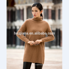 middle long woman's cashmere sweater