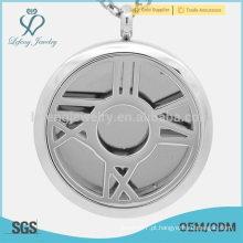 Novo design em aço inoxidável aroma pingente, perfume sólido recipientes jóias