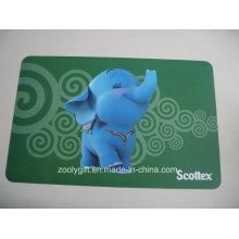 Placemat plástico encantador da placa PP dos animais da impressão