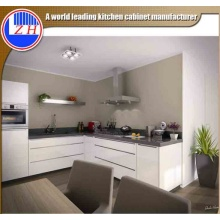 Glossy White Lacquer Kitchen Cabinets with Sink Faucet (min order one set)