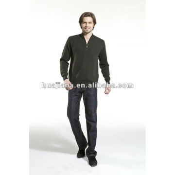 100% cashmere knits Men's pullover strips sweater