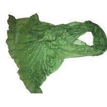 10% Cashmere 90% Algodão Lace Trimed Shawl
