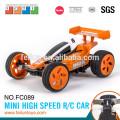 Vente chaude 2.4 G 4CH 11cm mini haute vitesse essence voiture rc avec boucle en métal (avec ligne d'USB)
