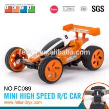 Caliente venta de 2.4G 4CH 11cm mini alta velocidad gasolina coche rc con anillo de metal (con la línea del USB)