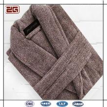 100% algodón terciopelo súper suave personalizadas coloridos albornoces para hombres