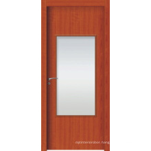 High Quality WPC Interior Doors, WPC French Door with Frosted Glass or Clean Glass