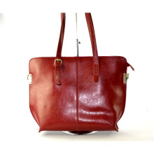 Best-Selling Stylish Customized Red Good Quality Leather Handbag for Lady