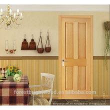 Diseño interior de la puerta de madera maciza chapada en roble, puertas de paneles de madera, puertas de las habitaciones