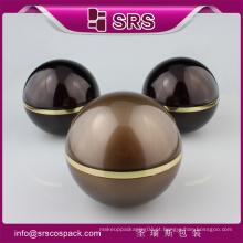 Alta qualidade bola forma frasco vazio cosmético para 7 dias creme de clareamento