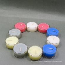 Bougies en verre colorées pour le mariage