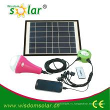 Мода CE солнечное освещение дома с 3 Светодиодные лампы
