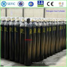 Cilindro de gás 40L de aço sem emenda de alta pressão do nitrogênio (ISO9809-3)