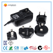 18W 24V 0.75A AC/DC High Reliability Interchangeable Medical Adaptor