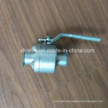 ANSI forjó la válvula de bola del extremo de soldadura del acero inoxidable F304 / F316