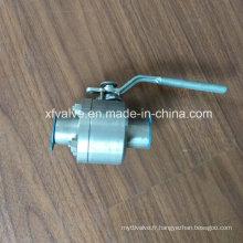 Clapet à bille d'extrémité de soudure d'acier inoxydable F304 / F316 forgé par ANSI