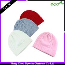16FZBE09 einfache Kaschmir Mütze für Mädchen Mütze mit benutzerdefinierten Label
