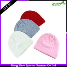 16FZBE09 plain cashmere beanie for girls beanie with custom label