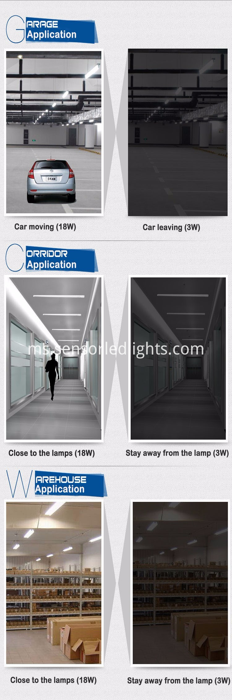 led t8 tube light with motion sensor