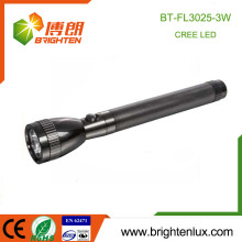 Factory Hot Sale 3*C Ni-cd Rechargeable Cell Used Aluminum Long Beam Distance High Power 3w Police Cree led Flashlight