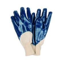 Jersey Liner Handschuh mit Nitril beschichtet, offen, Knit Handgelenk