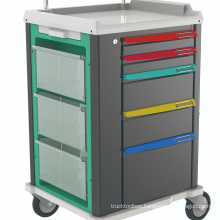 Mutifunctional Medical ABS Emergency Trolley for Hospital
